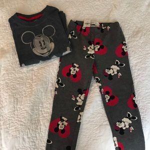 Disney, Mickey & Minnie leggings and t-shirt